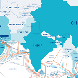 Submarine Cable Map - Fiber cable map compared to the us interstate highway map